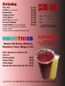 Cade Drinks Menu